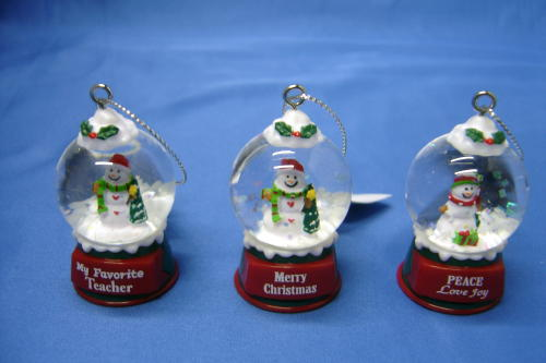 2 Your Very Own Snow Globe Personalized Custom Name Ornament by