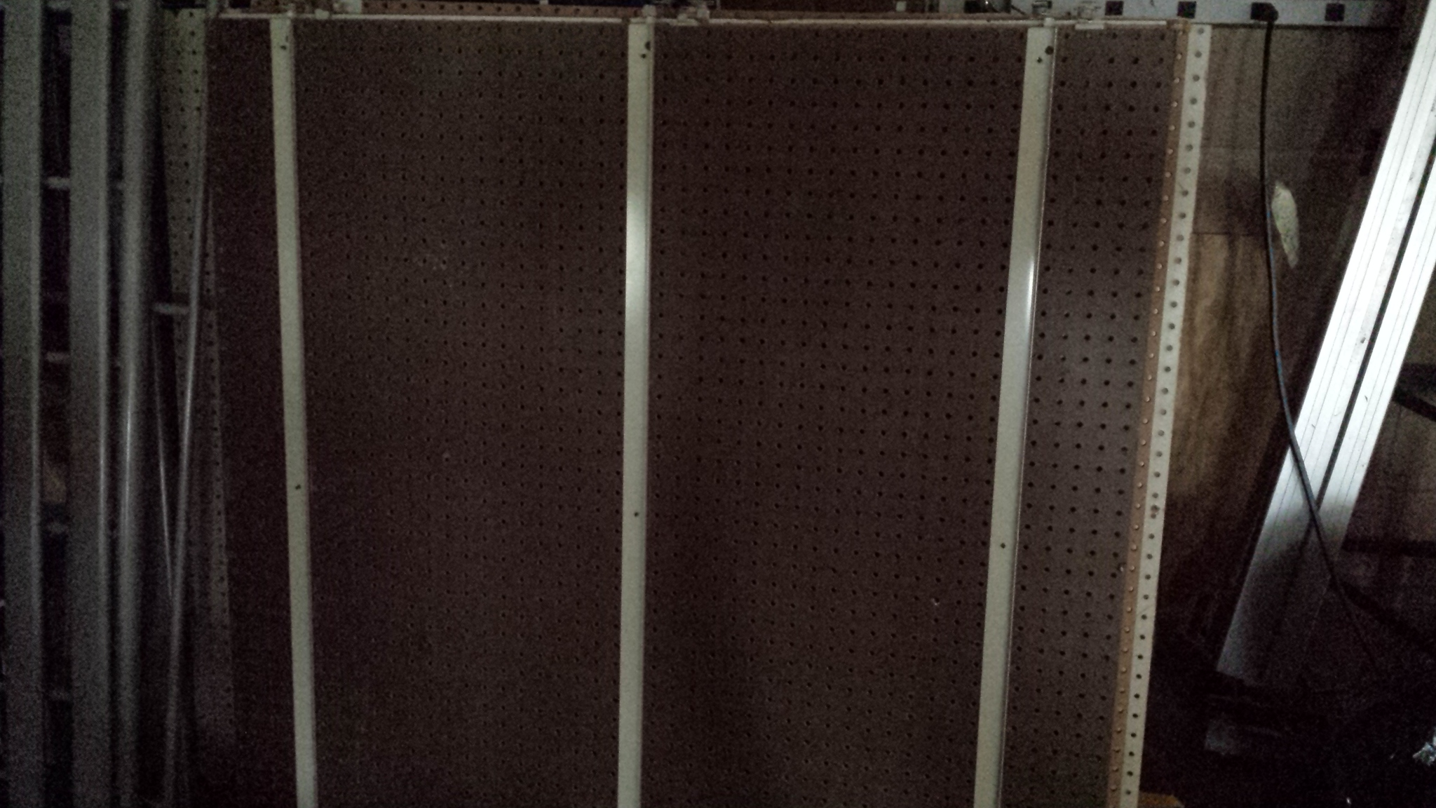 4 ft x 4 ft peg board pegboard garage storeroom warehouse storage ...