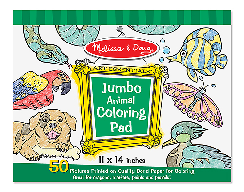 4200 Jumbo Coloring Pad- Animals (11\