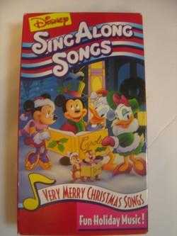 disney sing alongsmusical vhs sing along songs - Disney Sing Along Songs Very Merry Christmas Songs