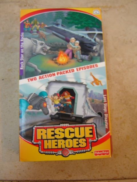 fisher price rescue heroes vhs tape two action packed