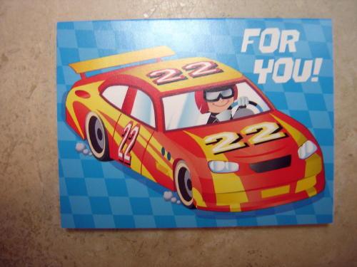 For You Race Car Kids Birthday Gift Card Blank Inside Enkore Kids