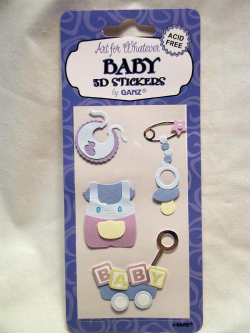 Ganz Art 12 Baby Book 3d Stickers Scrapbooking Acid Free Scrap Book