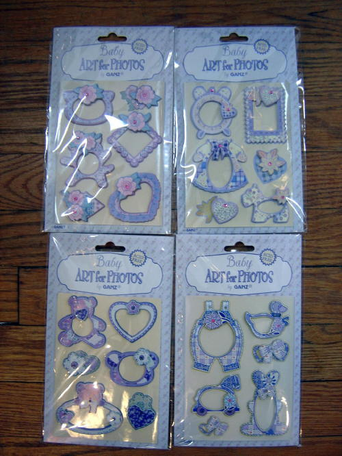 Ganz Photo Art Baby Theme Acid Free Scrapbook Stickers 24 Pack
