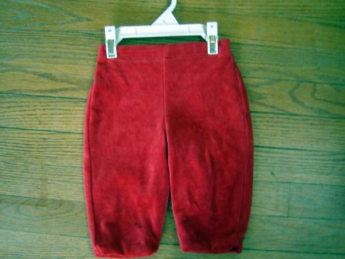 Gap Size 6m 9m 12m Red Velvet Pants