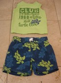 Kids-Headquarters-Size-0-3m-GreenBlue-Swim-Shorts-w-Matching-Cotton-Shirt_201670A.jpg