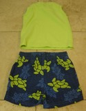 Kids-Headquarters-Size-0-3m-GreenBlue-Swim-Shorts-w-Matching-Cotton-Shirt_201670B.jpg