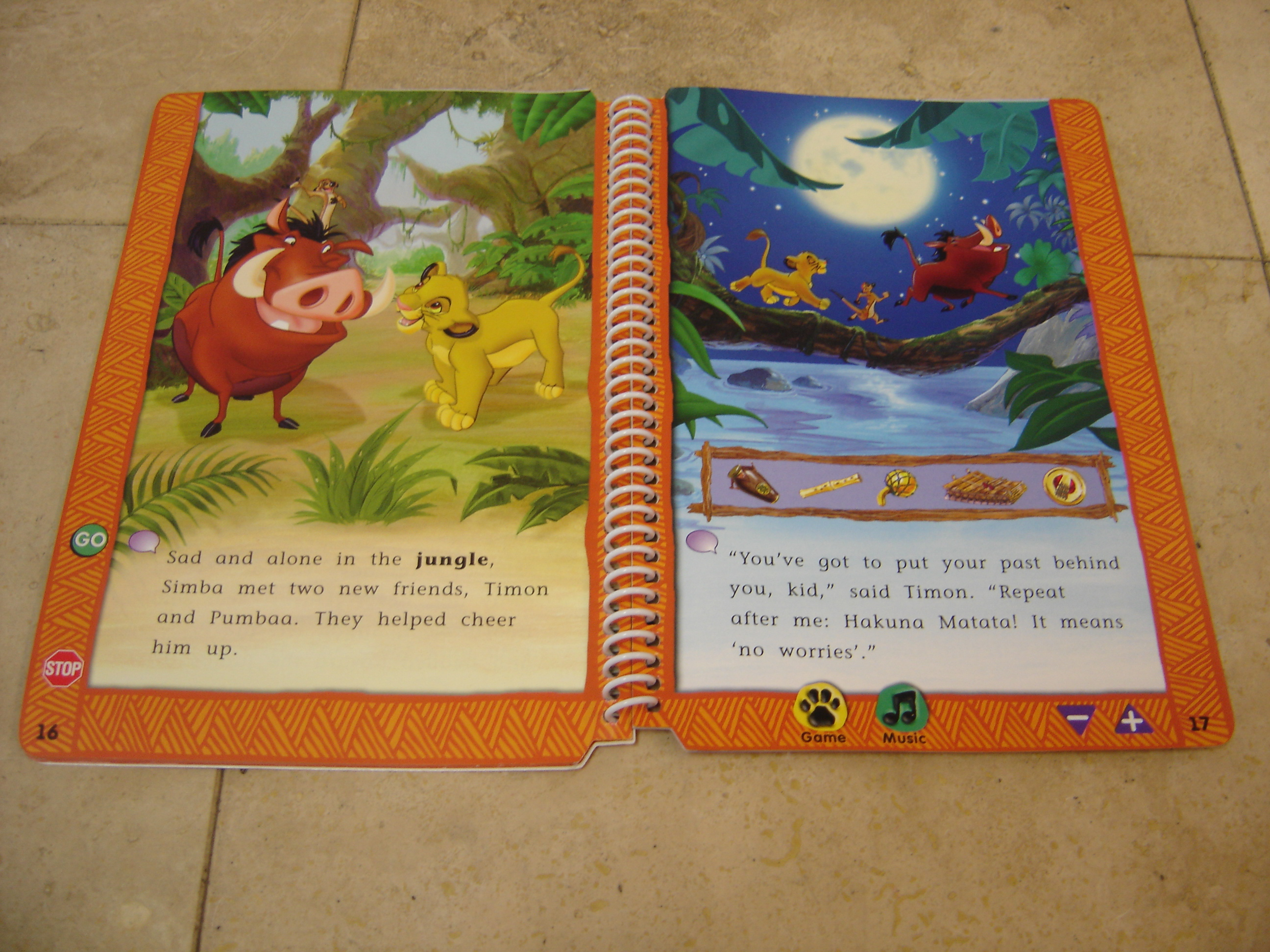 Leap Frog LeapPad Pre Reading Disneys The Lion King Story BookNo