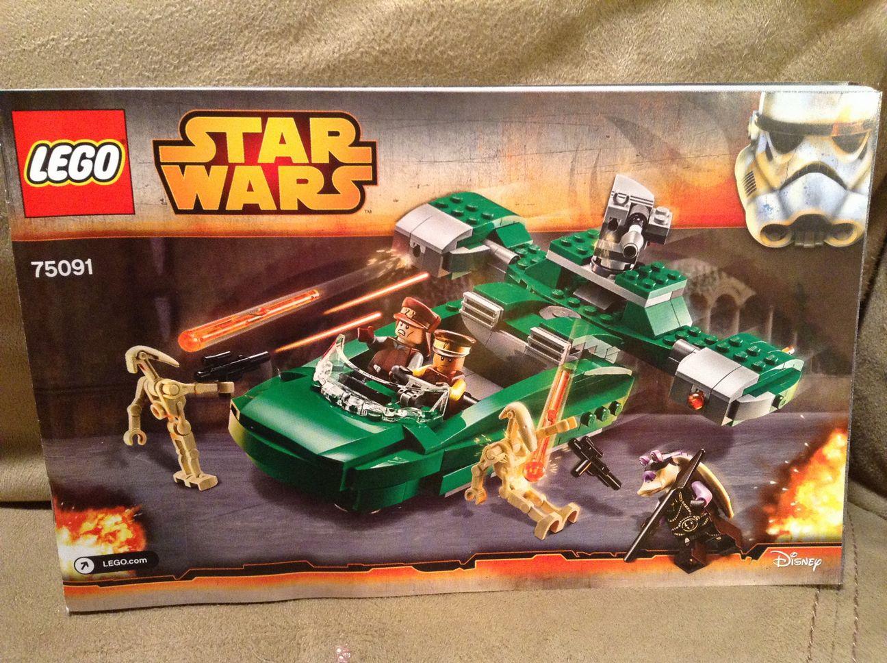 Lego 75091 Star Wars Flash Speeder Replacement Instruction Manual