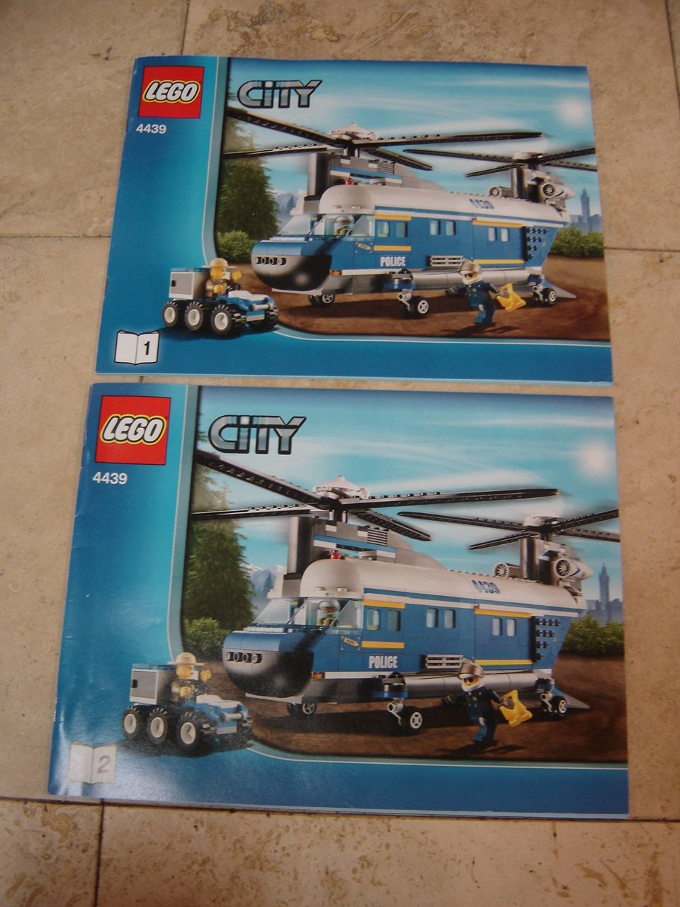 Lego City 4439 Police Heavy Lift Helicopter Instruction Manuals 1