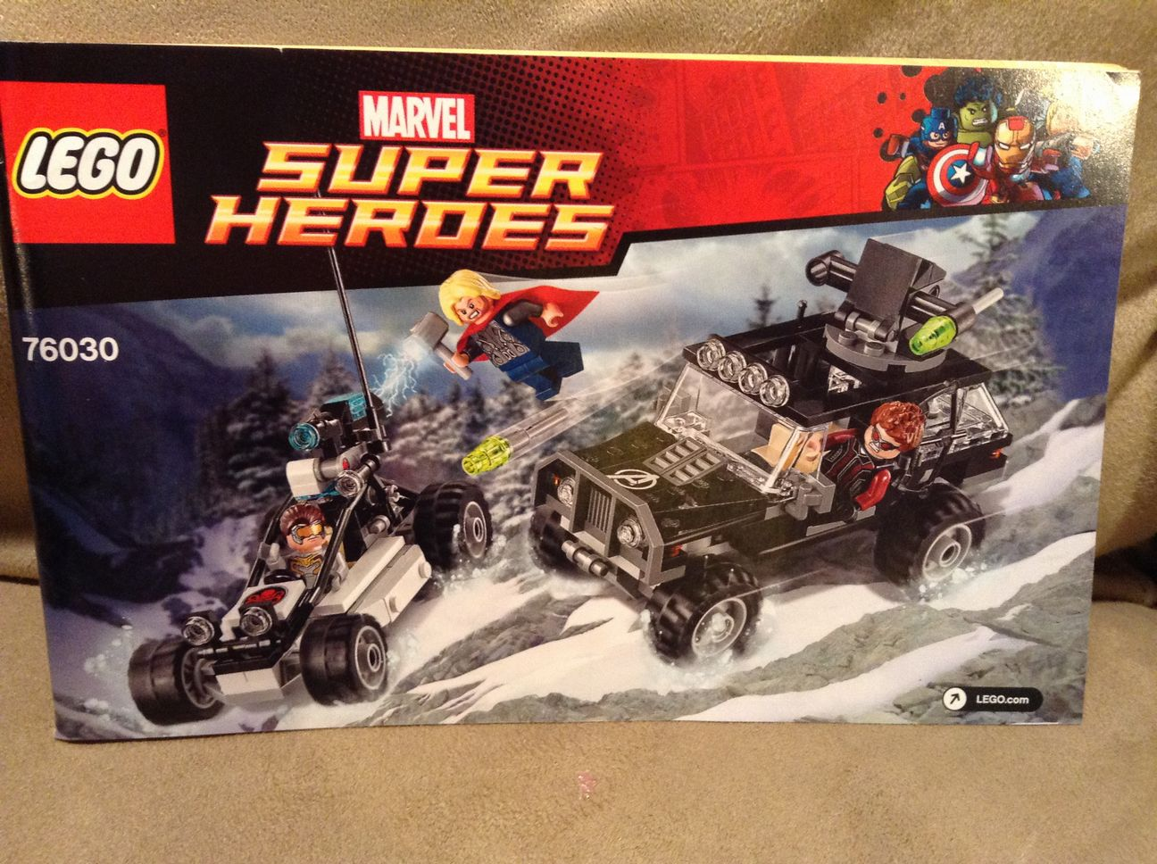 Legos 76030 Marvel Super Heroes Replacement Instruction Manual