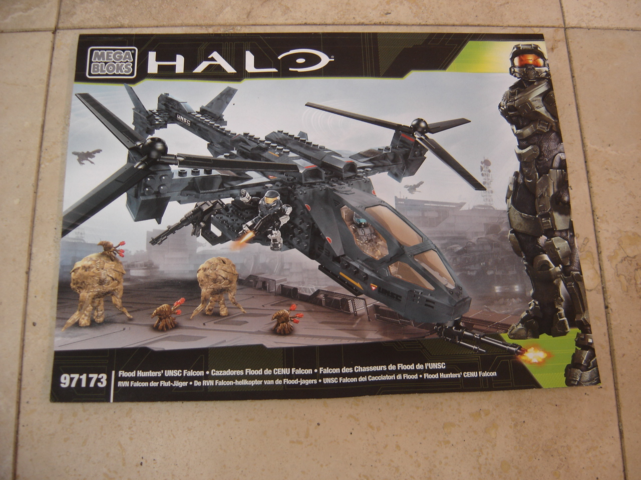 Mega Bloks Halo Flood Hunters Unsc Falcon 97173 Replacement