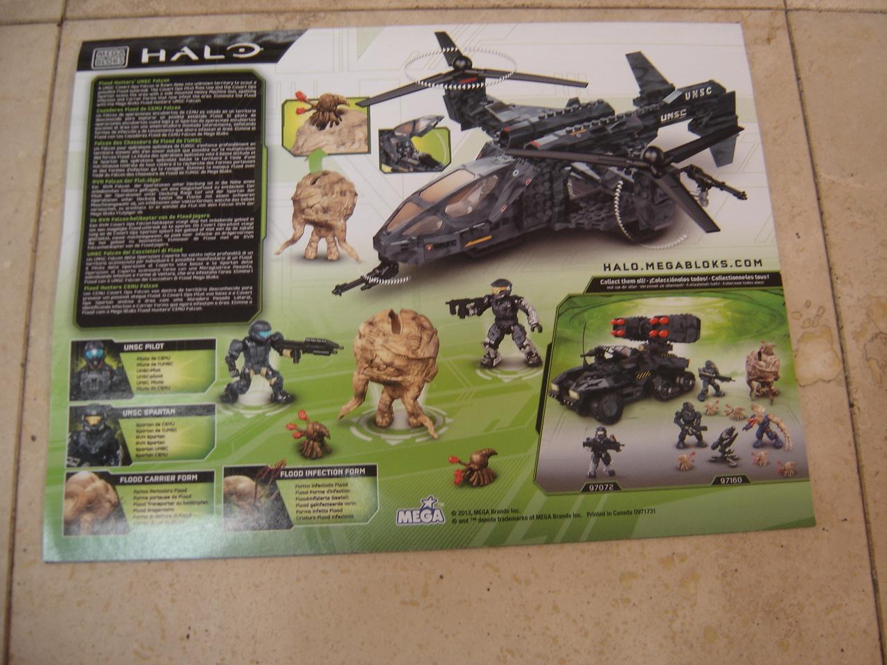 Mega Bloks Halo Flood Hunters Unsc Falcon 97173 Replacement