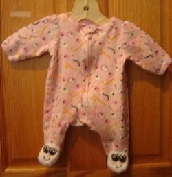 pink newborn halloween sleeper