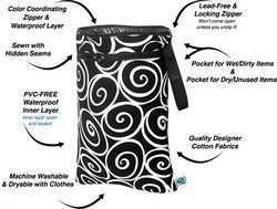 Planet Wise Reusable Wet Dry Bags Medium 13in X 16in Choose Color