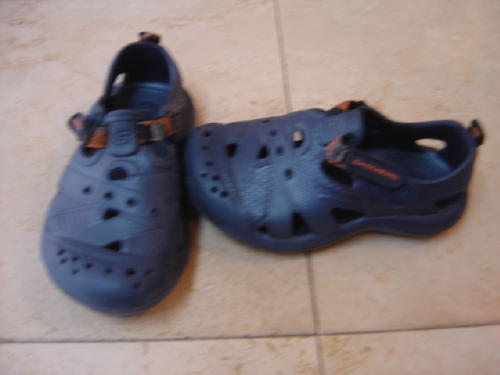 Skechers Size Kids-6 Blue With Velcro Strap Water Shoes/Sandals ...