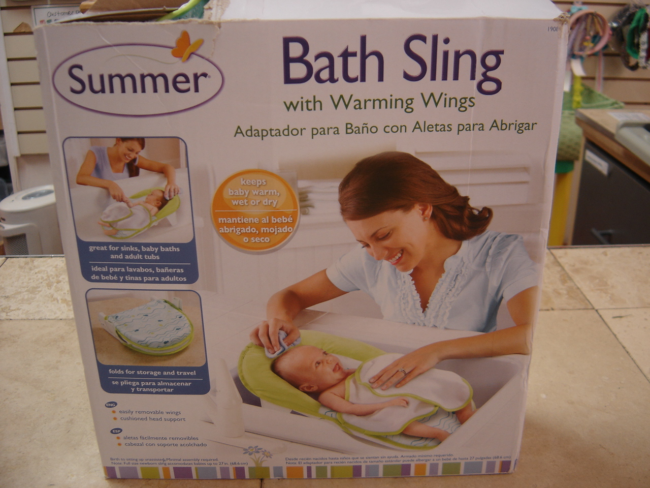 Summer Infant Bath Sling with Warming Wings NEW | Enkore Kids