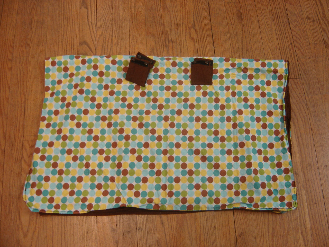 Unbranded Polka DotsBrown Infant Car Seat Cover 200036A