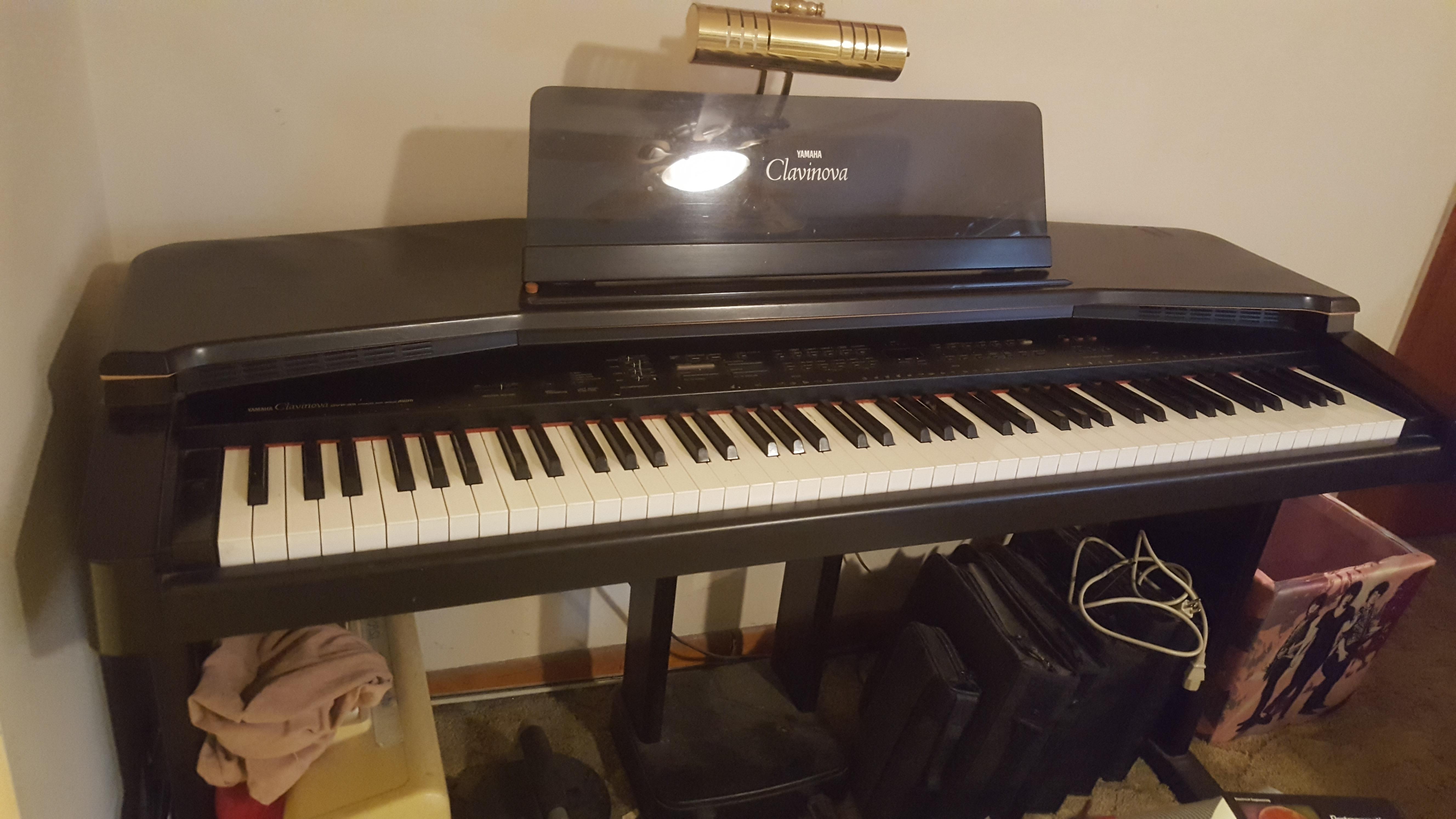 Yamaha cvp35 upright electronic piano keyboard synthesizer for Yamaha upright piano weight