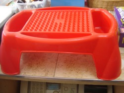 Mega Bloks Red Building Table and Storage Lap Tray  16x10x7