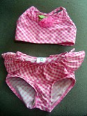 Children's Place Size 12m Pink/White Two Pce Girl Swimwear Swimsuit