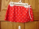 Carters Size 6r Swimwear Swimsuit Polka Dot Mini Skirt Coverup