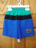 Bermuda Beachwear Size 18m Blue Striped Boy Swimwear Trunks