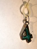 Stained Glass Number 4 (Green) Charm for Bracelets by Ganz