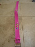 Pink 27 inch Long Belt with Multi Colored Dots