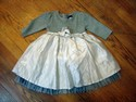 Baby Gap Size 3T Silver & Grey Dress Girl Formal & Holiday Wear