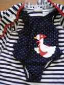 BT KIDS Size 24m-2T Goose Suit and Coverup Girl Swimwear Swimsuit