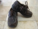 Boys Sonoma Size Youth 4 M Brown Loafers Boat Shoes