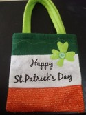 Small Felt Happy St Patrick's Day Bag Used