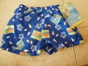 I Play Size 6m Swim Diaper - Blue Beach Print