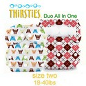 Thirsties Duo All In One AIO Size 2 Cloth Diaper Prints