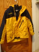 Columbia Size 10r-12r Yellow 3 in 1 Coat Heavyweight Outerwear