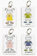 Ganz NT2114 Jocelyn Yellow Girl Name Keyring Charms Personalized Tag