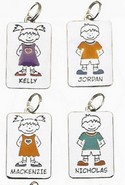 Ganz NT2124 Justin Red Boy Name Keyring Charms Personalized Tag