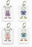 Ganz NT2145 Lisa Blue Girl Name Keyring Charms Personalized Tag