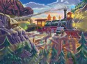 3132 200pc Eagle Canyon Railway Cardboard Jigsaw by Melissa & Doug