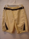 OP Size 7r Yellow and Brown Swim Trunks / Swimsuit/ Swim Shorts