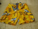 Arizona Size 6 Orange Swim Trunks Lizard Surf Board Print