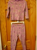 The Children's Place Size 4T Purple Halloween Witch Pajamas