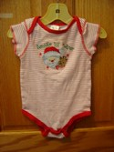 Tender Kisses Size 6m-12m Santa's Lil' Helper One Piece Snap Body Suit