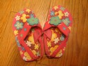 Pink Floral Flip Flops With Back Strap Kids-6
