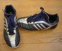 Adidas Size Youth 3.5 Soccer Cleats Blue And Gray