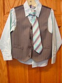 Arrow Size 6r Blue and Grey 3 Piece Outfit Formal & Holiday Wear