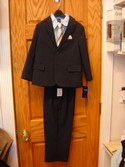 Arrow Size 6r Blue Pin Stripe 4 Piece Boys Suit Formal & Holiday Wear