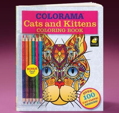 Colorama Cats Kittens Adult Coloring Book With Bonus