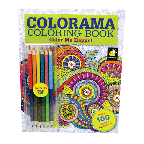 Colorama Color Me Happy Coloring Book With Bonus